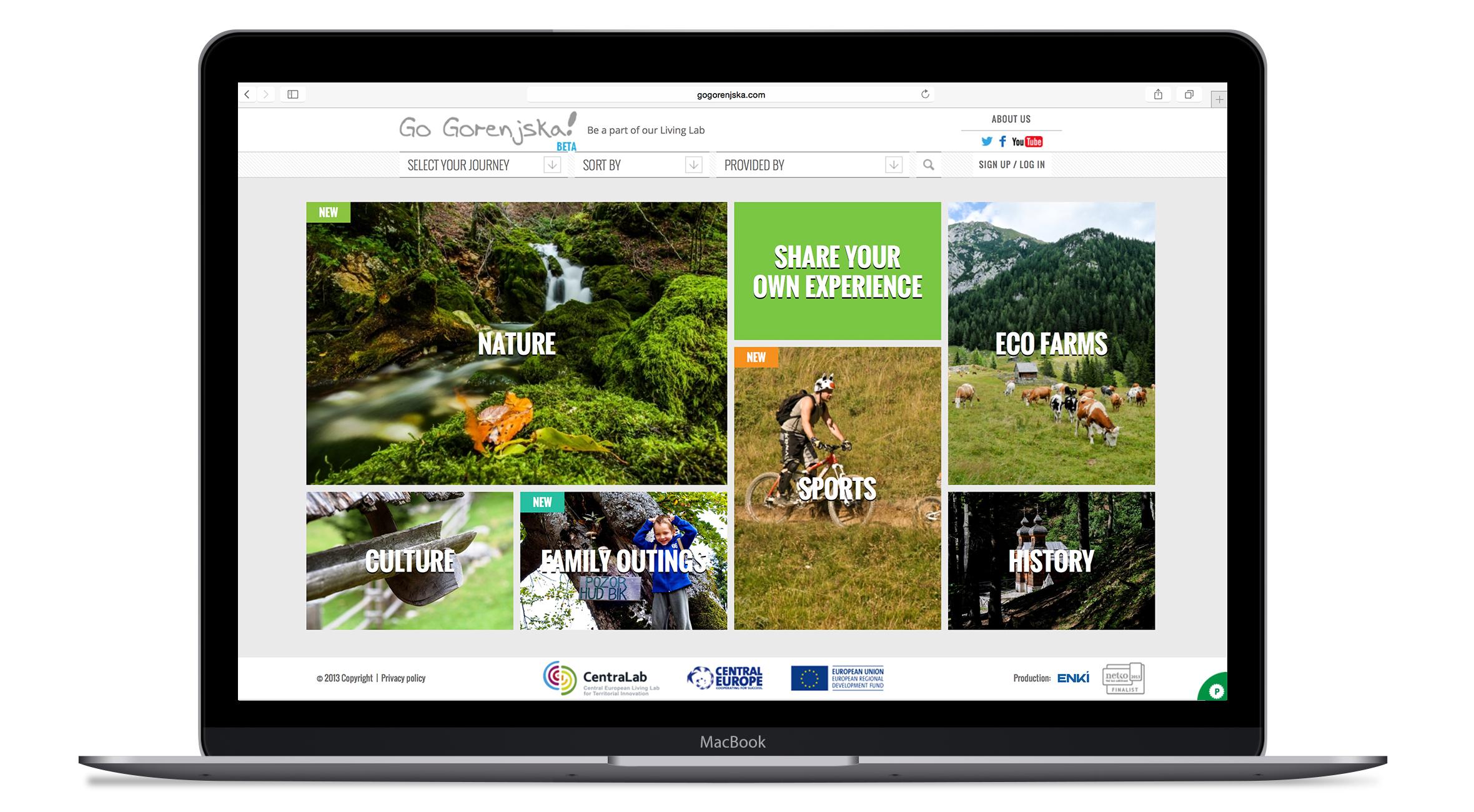 GoGorenjska.com spletna platforma
