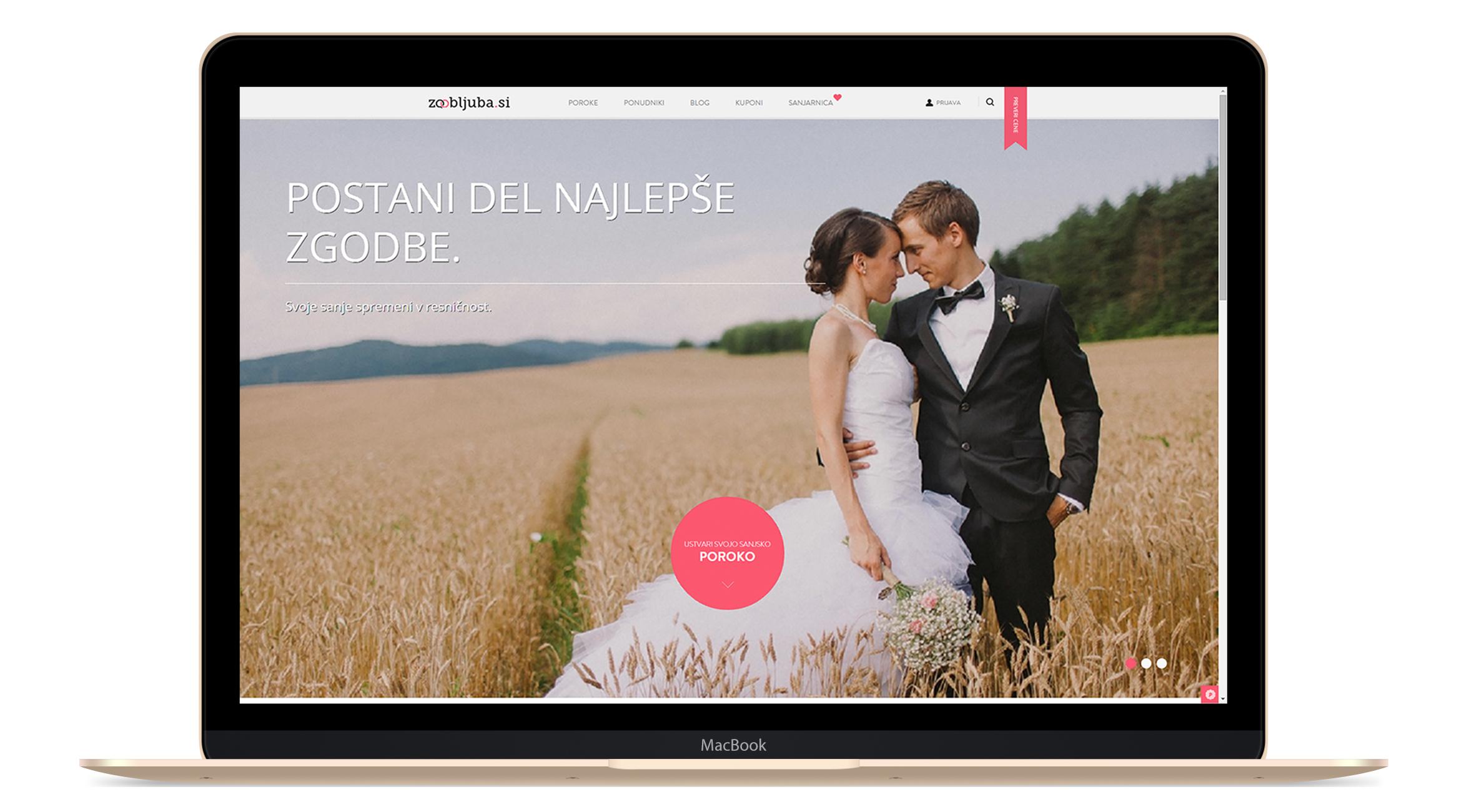 Zaobljuba.si, spletna stran za poroke